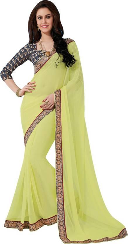 df2a848d4 Buy Subhash Sarees Self Design Fashion Chiffon Multicolor Sarees ...