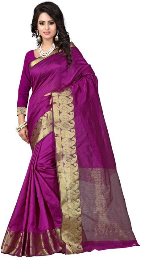 The Fashion World Self Design Fashion Polycotton Saree