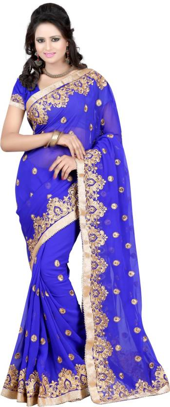 Bunny Sarees Embroidered Bollywood Georgette Saree
