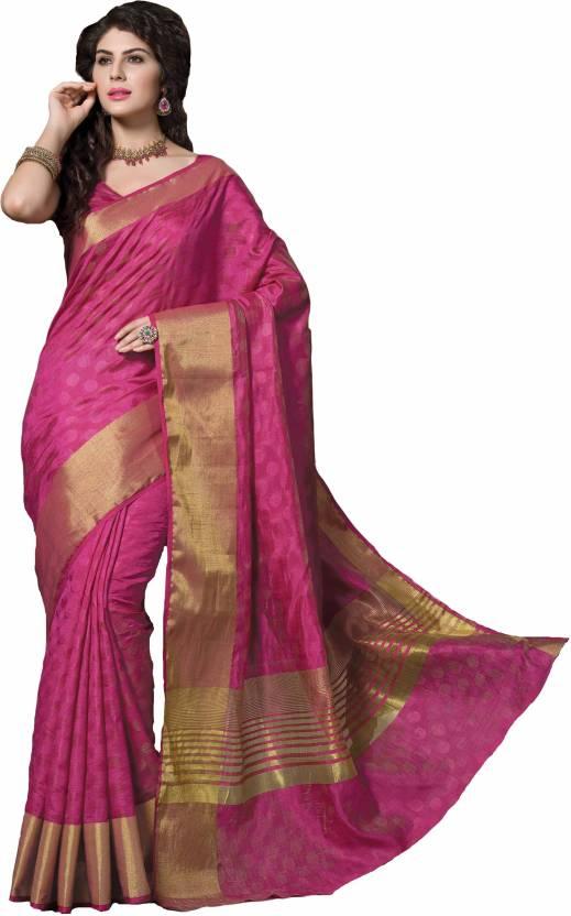 548a093c19 Buy Rajshri Fashions Woven Manipuri Silk Pink Sarees Online @ Best ...