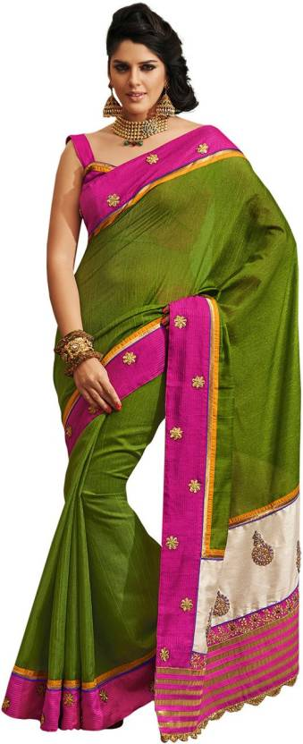 Ambaji Solid, Self Design Bhagalpuri Silk Saree