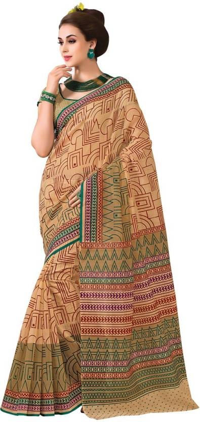 EthnicBasket Printed Fashion Handloom Cotton Sari