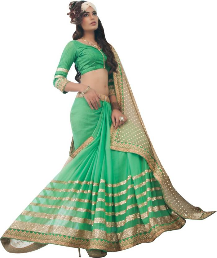 0a8f868d82 Buy Neerus Printed Fashion Georgette Green Sarees Online @ Best ...
