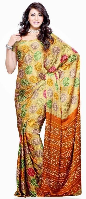 Priyankas Floral Print Silk Sari