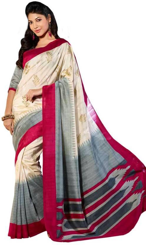 Vipul Printed Bhagalpuri Art Silk Saree