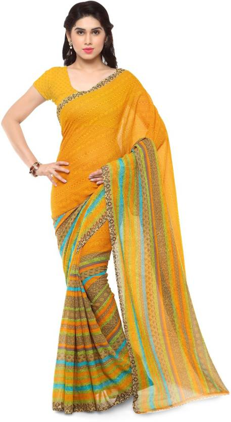 Anand Sarees Printed Daily Wear Georgette Saree  (Multicolor)