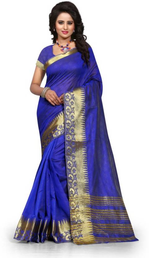 The Fashion World Self Design Fashion Polycotton Sari