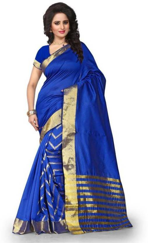 Fabcart Self Design Fashion Polycotton Sari