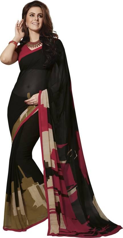 Ishin Printed Fashion Georgette Saree