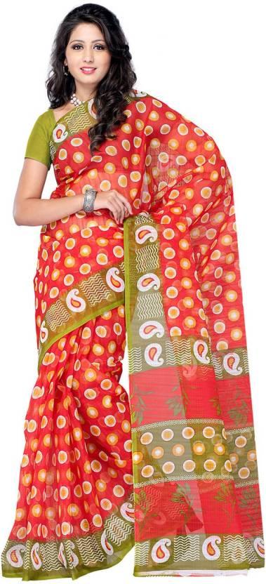 Ambaji Polka Print Daily Wear Cotton Sari