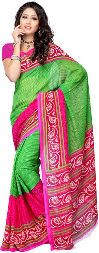 Ambaji Striped Daily Wear Georgette Saree