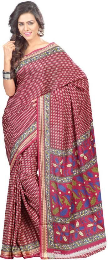 Ambaji Floral Print Daily Wear Crepe Sari