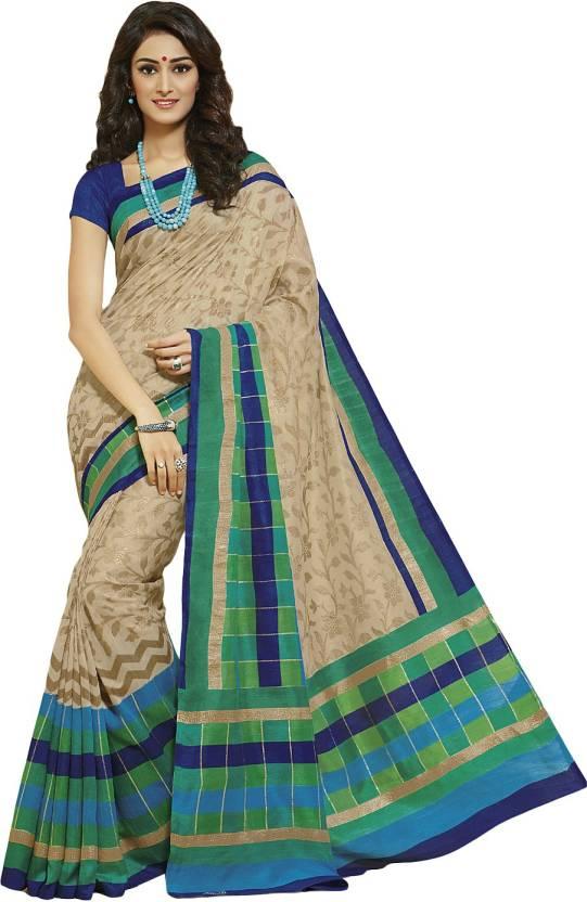 c0db2e073c Buy Tagbury Checkered Bhagalpuri Tussar Silk Multicolor Sarees ...