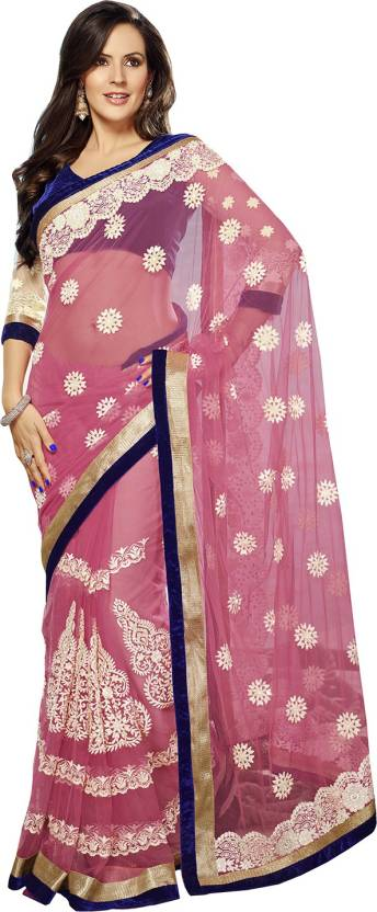 Ishin Solid Fashion Net Saree