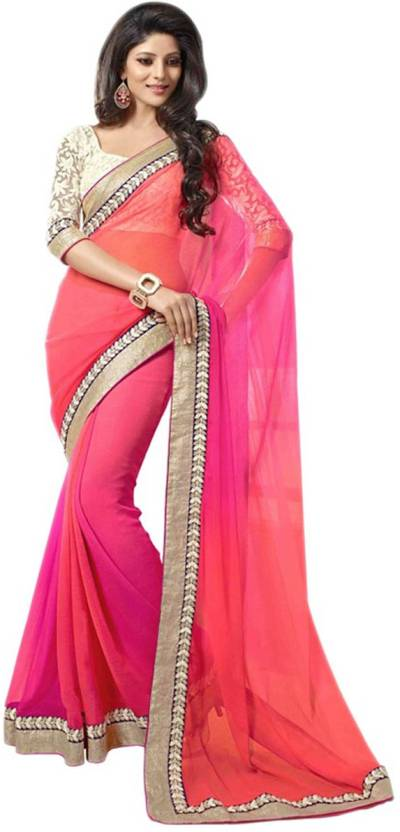 Riwaz Collection Self Design Bollywood Georgette Saree