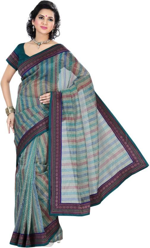Triveni Checkered Daily Wear Net Saree