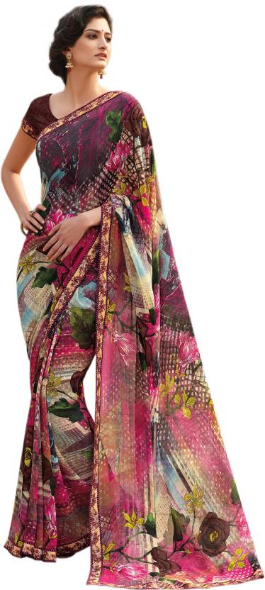 f4961686a2 Buy Laxmipati Sarees Floral Print, Graphic Print Fashion Georgette ...