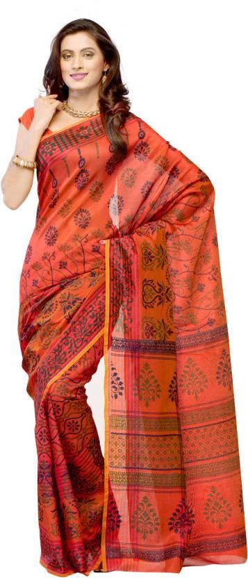 Ambaji Geometric Print Fashion Cotton Sari