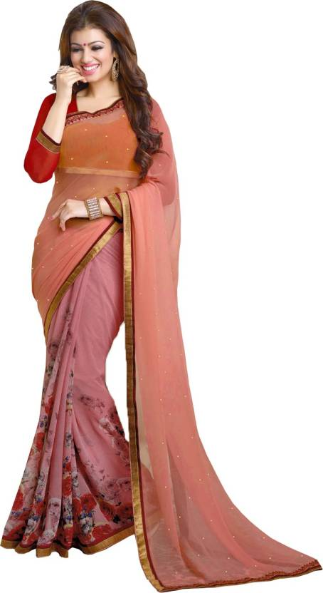 25a74073d850e Buy Kavya Creation Printed Fashion Georgette Red Sarees Online ...