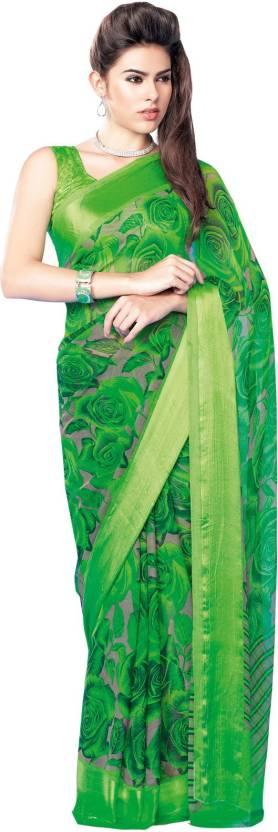 Khantil Printed Fashion Chiffon Sari
