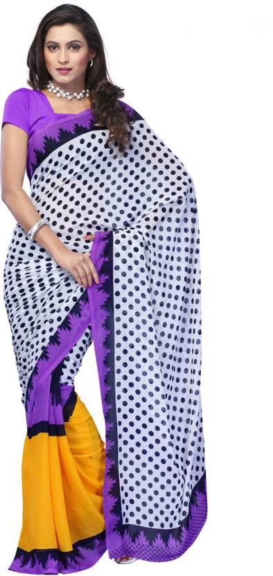 Ambaji Polka Print Fashion Georgette Sari