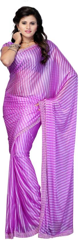 Ambaji Striped Fashion Silk Sari