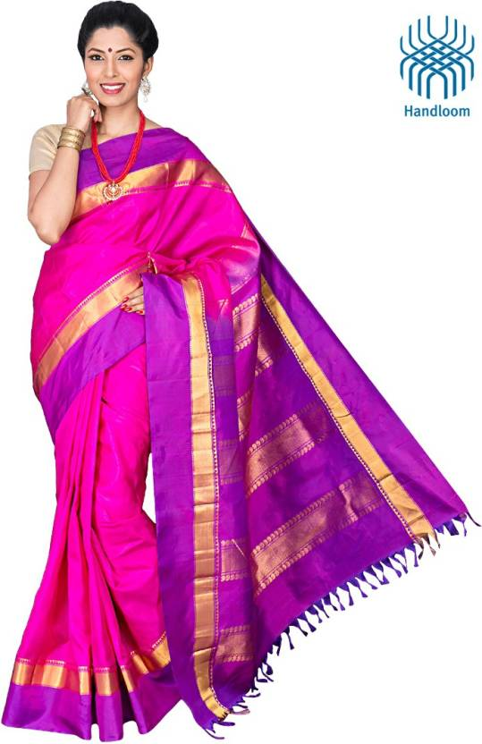 99c23b31a4 Buy Co-optex Solid Coimbatore Silk Pink Sarees Online @ Best Price ...