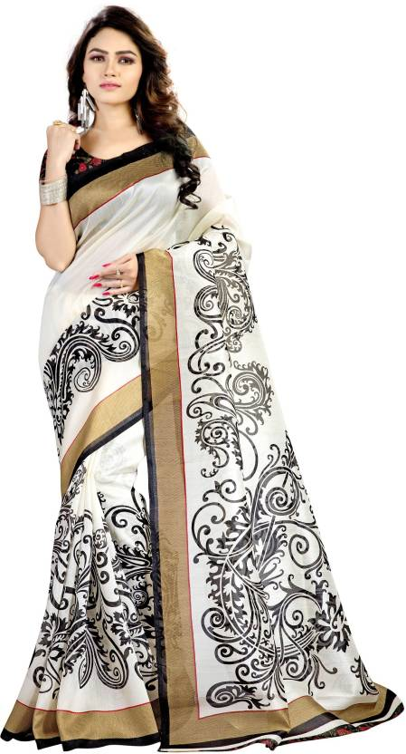 Peecaso Self Design Bhagalpuri Art Silk Saree
