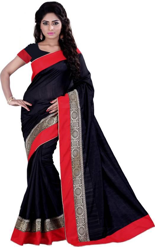 fd3508e2ff08 Buy Divastri Self Design Fashion Banarasi Silk Black Sarees Online ...