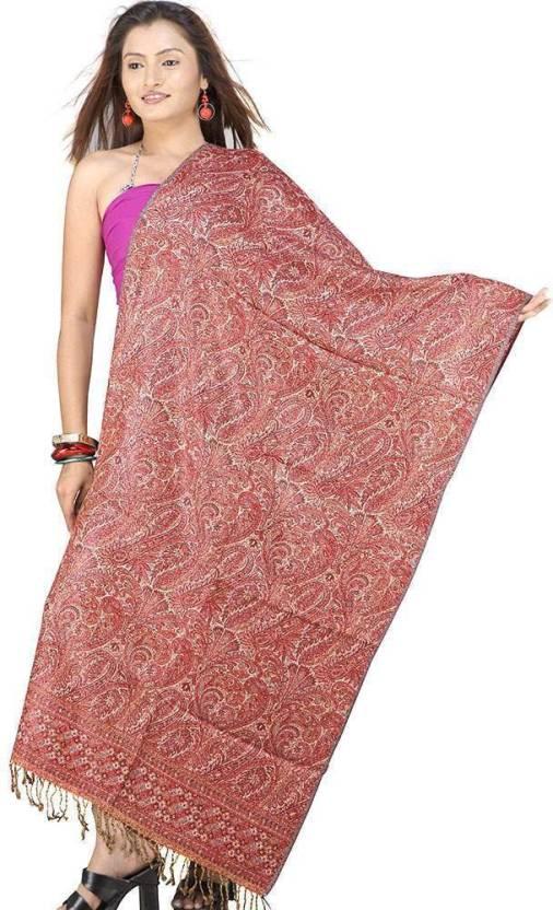 Great Art Printed Wool, Viscose, 20% Kashmiri Wool and 80% Wool