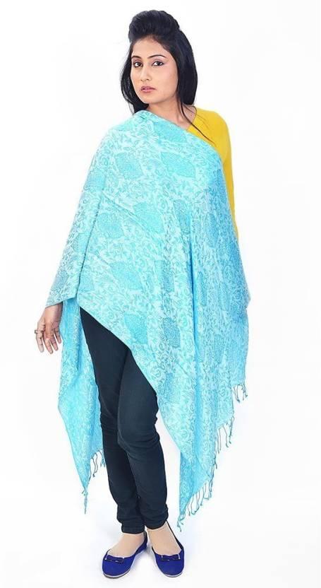 Great Art Printed Wool, Viscose, 20% Kashmiri Wool, 30% Wool ruffle