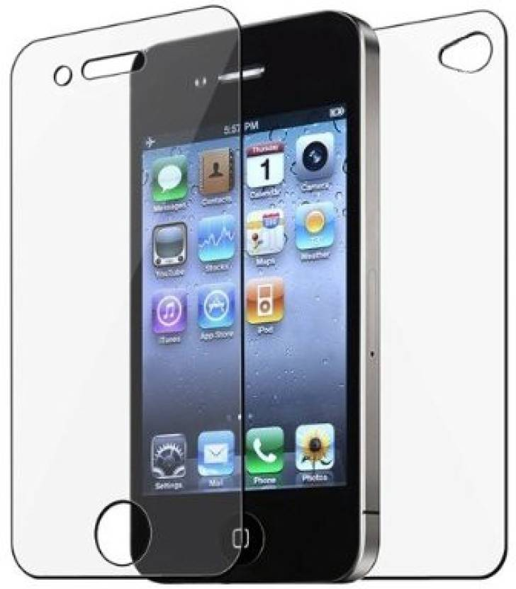 My Choice Front and Back Tempered Glass for Apple iPhone 4, 4s (Front & Back)