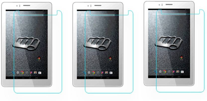 ACM Tempered Glass Guard for Micromax Canvas Tab P470,  Pack of 3  Pack of 3