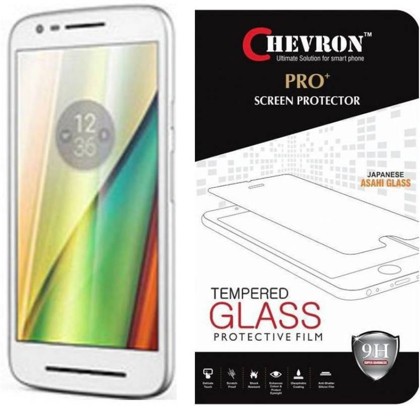 Chevron Tempered Glass Guard for Motorola Moto E3 Power, Motorola Moto E(3rd Generation)