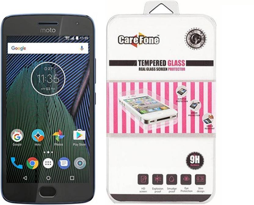 CareFone Tempered Glass Guard for Motorola Moto G5 Plus