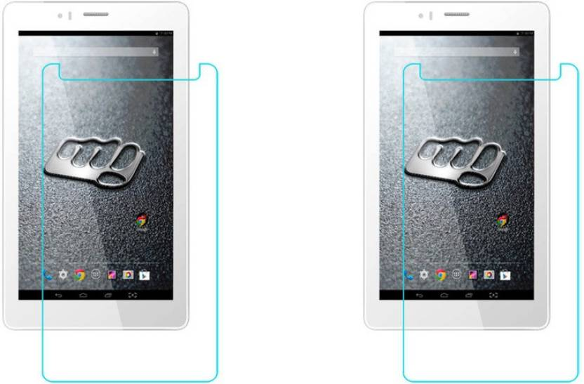 ACM Tempered Glass Guard for Micromax Canvas Tab P470 Pack of 2