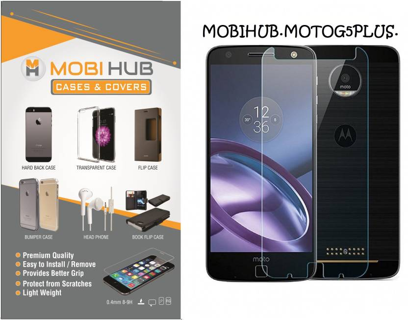 MOBIHUB Tempered Glass Guard for Motorola Moto G5 Plus