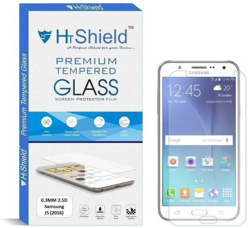HTShield Tempered Glass Guard for Samsung Galaxy J5 - 6 (New 2016 Edition) (