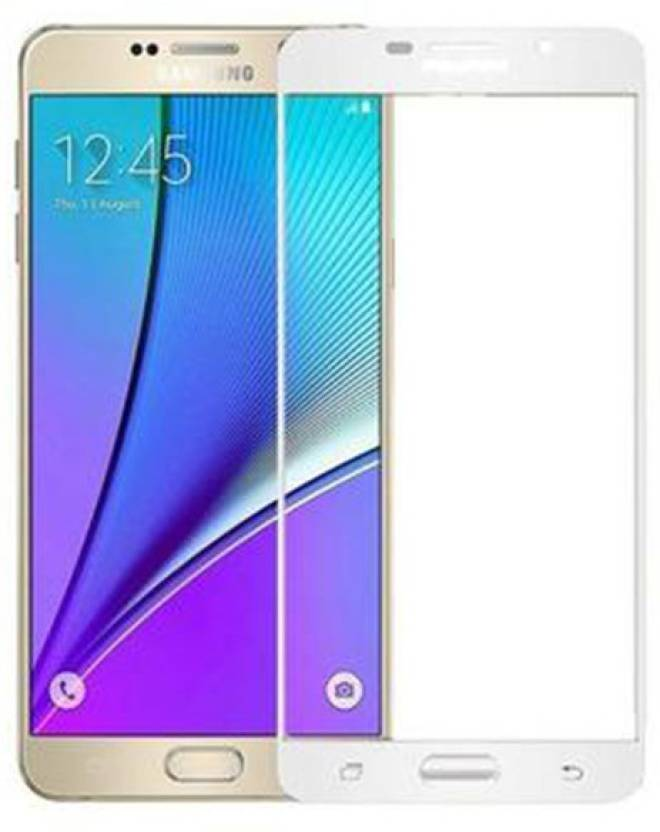 Maxpro Edge To Edge Tempered Glass for 5D Tempered Glass Samsung Galaxy J7 Prime (White)(Full) (Pack of 1)