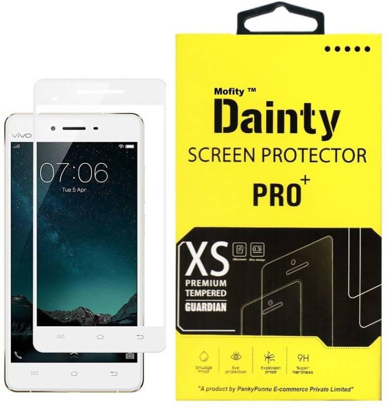 Dainty Tempered Glass Guard for Vivo V3 Max (5 5 inch, White) (Full Screen  Coverage)