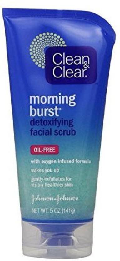 CLEAN & CLEAR Morning Burst Detoxifying Facial Cleanser Oil-Free 8 oz (Pack of 4) Guinot Depil Logic Anti Hair Regrowth Face & Body Serum - 2x8ml/0.27oz