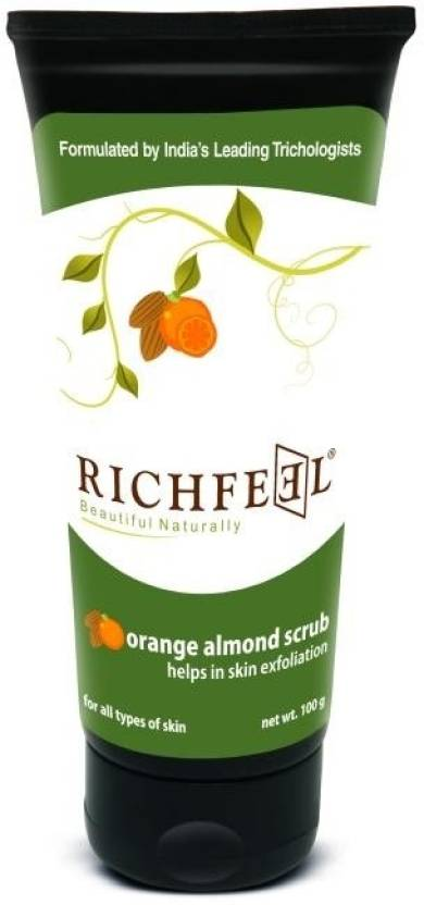 Richfeel Orange Almond  Scrub