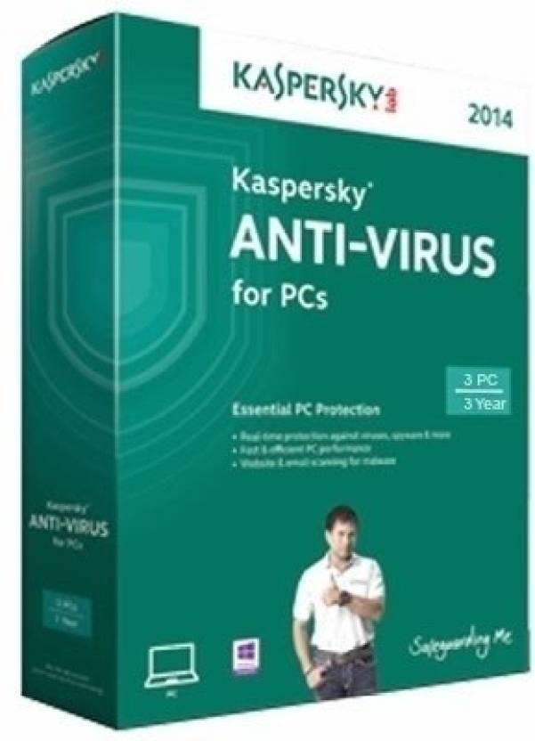 Kaspersky Anti Virus 2014 3 PC 3 Year