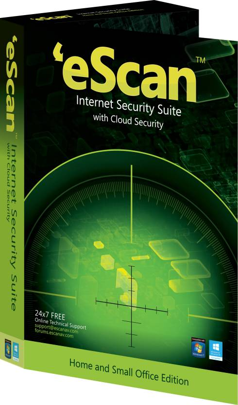 eScan Internet Security Suite with Cloud Security 1 PC 1 Year