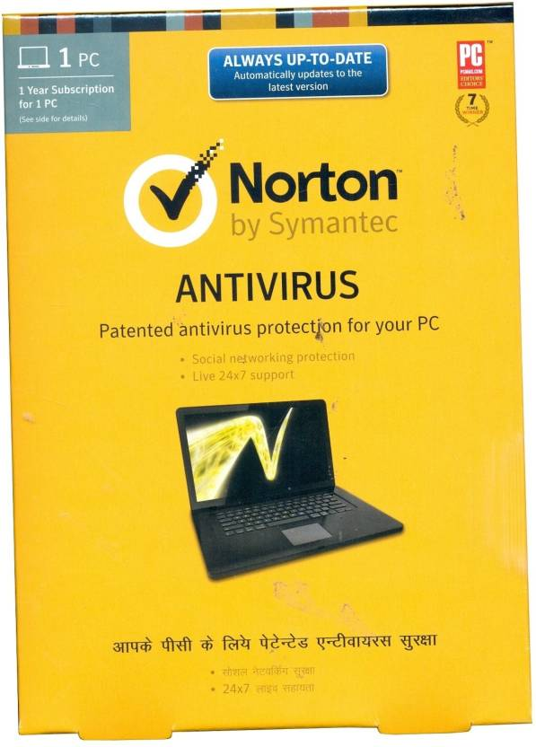 Norton AntiVirus 1 PC 1 Year
