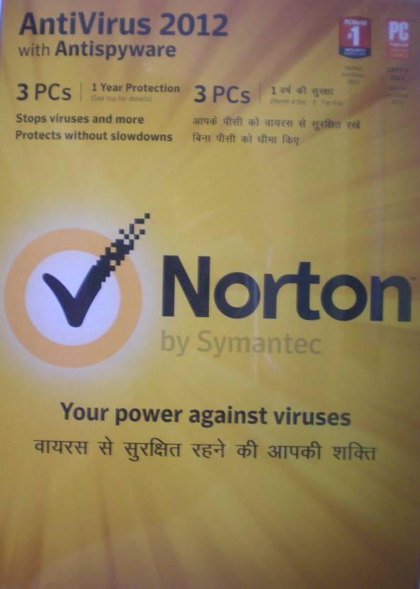 Norton AntiVirus 2012 3 PC 1 Year
