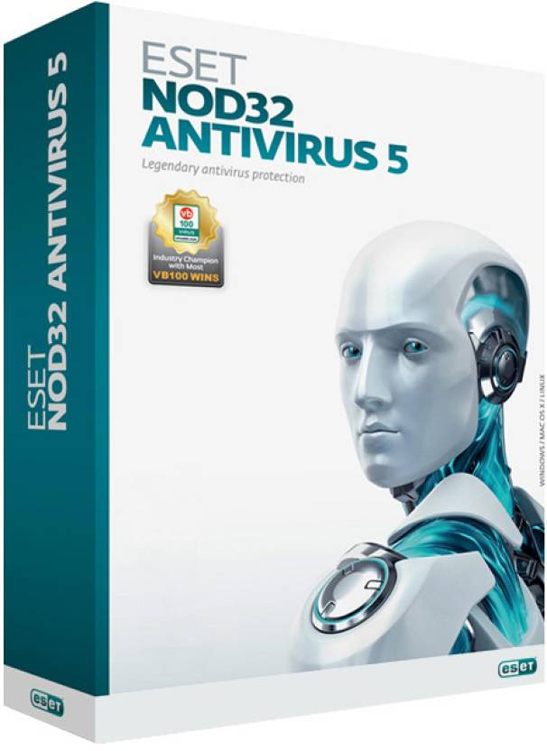 Eset NOD32 Antivirus Version 5 1 PC 1 Year