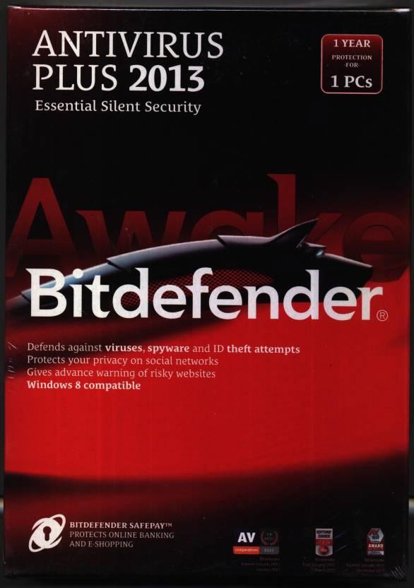 Bitdefender Antivirus Plus 2013 1 PC 1 Year (Buy 1 License Get 1 Free and 1  Year Free Mobile Security)