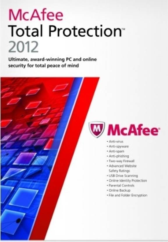 McAfee Total Protection 2012 3 PC 1 Year