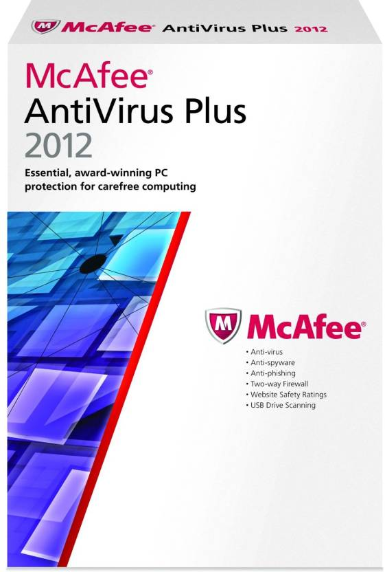 McAfee AntiVirus Plus 2012 1 PC 1 Year